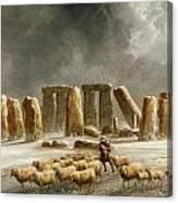 Stonehenge In Winter  Canvas Print