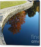 Stonewall And Autumn Reflections Canvas Print