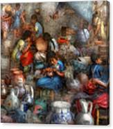 Store - The Busy Marketpalce Canvas Print