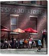 Storefront - Bastile Day In Frenchtown Canvas Print