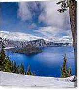Storm Clearing At Crater Lake Canvas Print