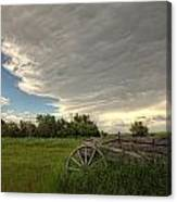 Storm Clouds Gather Over An Abandoned Canvas Print