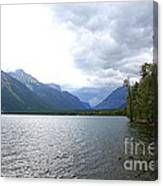 Storm Clouds Over Lake Mcdonald Canvas Print