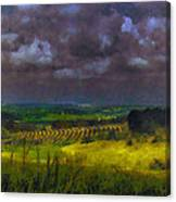 Storm Clouds Over Meadow Canvas Print