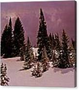 Storm Clouds Over The Monte Cristo Summit Canvas Print