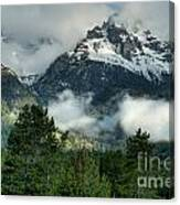 Storm  In The Tetons Canvas Print