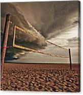 Volley Ball Net Canvas Print
