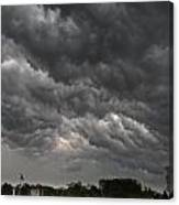 Storm Over Baseball Canvas Print