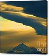 Storm Over Shasta Canvas Print
