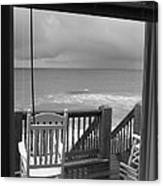 Storm-rocked Beach Chairs Canvas Print
