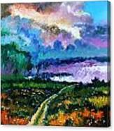 Stormy Road Canvas Print