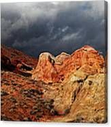 Stormy Skies Over Valley Of Fire Canvas Print