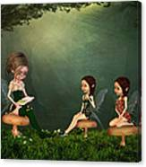 Story Timei N The Forest Canvas Print