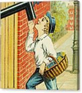 Stove Polish Trade Card Canvas Print