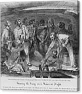 Stowing African Captives In A Slave Canvas Print