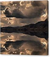 Strange Clouds Reflected Canvas Print