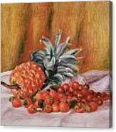 Strawberries And Pineapple Canvas Print