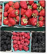 Strawberries Blackberries Rasberries - 5d17809 Canvas Print