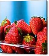 Strawberries In A Plastic Sale Box  Canvas Print