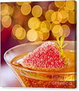 Strawberry And Champagne Canvas Print