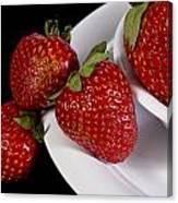 Strawberry Arrangement With A White Bowl No.0036 Canvas Print