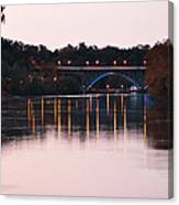 Strawberry Mansion Bridge At Dusk Canvas Print