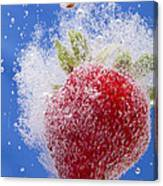 Strawberry Soda Dunk 1 Canvas Print