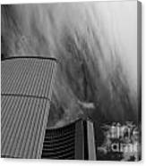Streaks And Puffs Over City Hall Canvas Print