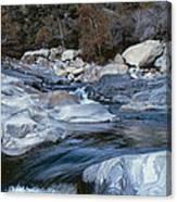 Stream Flowing Through The Rocks Canvas Print