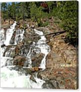 Streaming Glen Alpine Falls Canvas Print