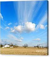 Streaming Sky Canvas Print