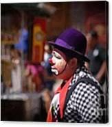 Street Clown At Central Park Canvas Print