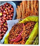 Street Food Snacks In Seoul Canvas Print