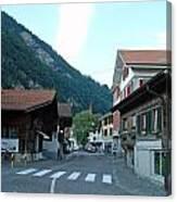 Street In Interlaken In Switzerland Canvas Print