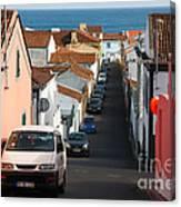 Street In Lagoa - Azores Canvas Print
