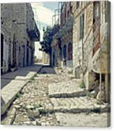 Street In Safed Canvas Print