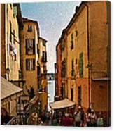 Street In Villefranche II Canvas Print