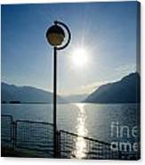 Street Lamp And Water Canvas Print