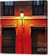 Street Lamp Cafe Canvas Print