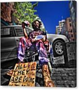 Street Life 4 Canvas Print