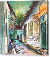 Street Life In Nicosia Canvas Print