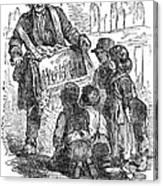 Street Musician, 1850 Canvas Print