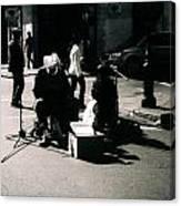 Street Musicians- Grandpa Elliot Canvas Print