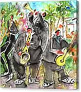 Street Musicians In Cyprus Canvas Print