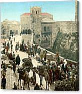 Street Of The Tower Of David Canvas Print