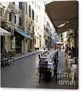 Street Restaurant Canvas Print