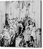 Street Scene In Athens Greece - C 1919 Canvas Print