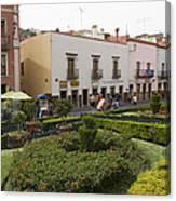 Street Scene In Plaza De La Paz Canvas Print