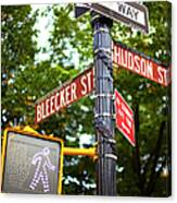 Street Signs In Nyc Canvas Print