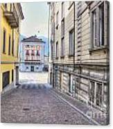 Street With Houses Canvas Print